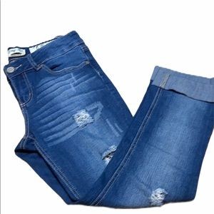 Indigo Rein Forever Recessed cuffed ankle Jeans